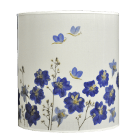 Flowered Lampshade - Delphinium