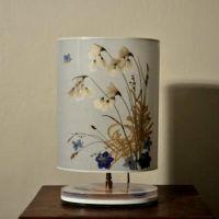 Handcrafted lamp - Cotton Grass - Ovale 23